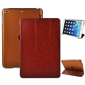 Wohai Gadget Mall - Angibabe 3 plegable con el caso de cuero del soporte de la PU y PC con Auto Sleep / Wake Up para Ipad mini 2 Retina , Blanco