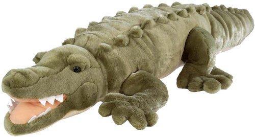 Wild Republic Jumbo Crocodile Giant Stuffed Animal, Plush Toy, Gifts for Kids, 30 (Color: Crocodile, Tamaño: 30)