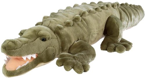 Wild Republic Jumbo Crocodile Giant Stuffed Animal, Plush Toy, Gifts for Kids,...