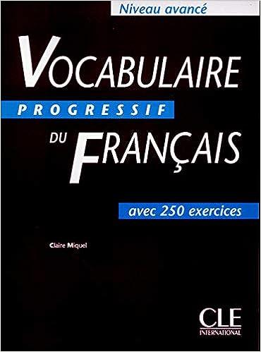 Vocabulaire progressif du Français Niveau avancé