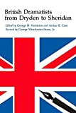 img - for British Dramatists from Dryden to Sheridan book / textbook / text book