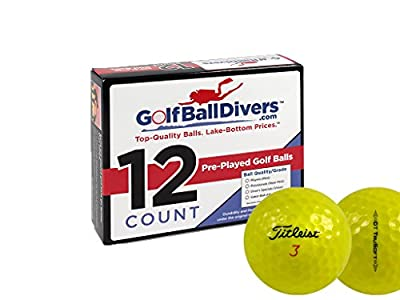 Titleist 24 DT TruSoft Yellow - Value (AAA) Grade - Recycled (Used) Golf Balls