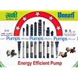 Unnati V4 Submersible Pump Set Single Phase R-8/12 - 1 HP 12 Stage (Pack Of 2)