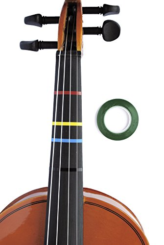 Jumbo GREEN Color Violin Fingering Tape for Fretboard Note Positions by Long Beach Music
