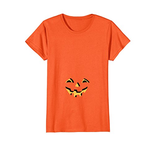 Womens Pregnant Pumpkin Halloween T for Maternity and Beer Bellies Medium (Funniest Dress Up Costumes)