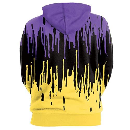 Femmes en Imprimer Halloween Hiver Nouveau dcontracte col Capuche Tops Shirt Longues V Blouse Multicolore Sweat Manches de Color Mode Casual zahuihuiM dXAzqd