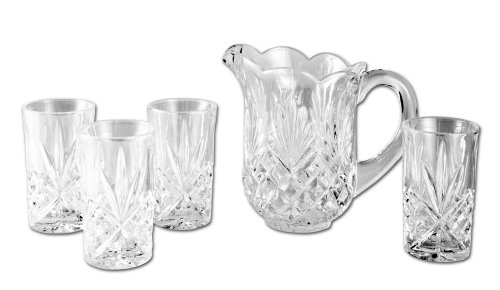 Godinger Dublin 5-Piece Crystal Drink Set (Crystal Pitcher Set)