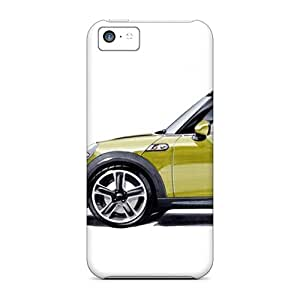 Rugged Skin Case Cover For Iphone 5c- Eco-friendly Packaging(mini Cooper)