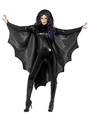 Vampire Bat Wings Adult Ladies Womens Costume Accessory Cape Black Halloween +eBook