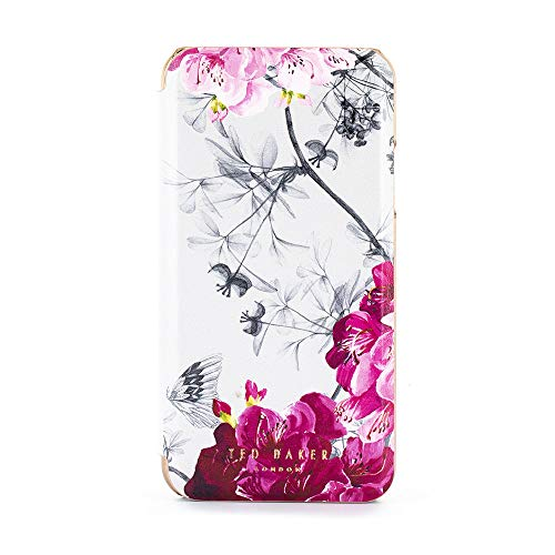 Ted Baker Fashion Mirror Folio Case for iPhone Xs Max, Protective Cover iPhone Xs Max for Professional Women/Girls - Babylon Nickel