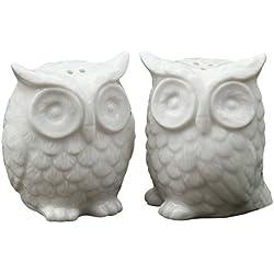 Creative Co-Op DA1939 Ceramic Owl Salt and Pepper Shaker, Set of 2