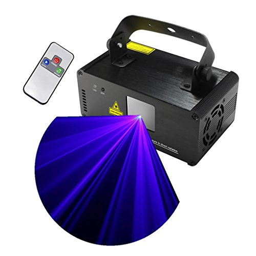 Mini IR Remote Blue Color Stage Lighting 8 CH DMX512 DJ Party Disco Show Projector Lights ADM-B450 by EJ