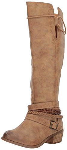 Not Rated Women's Jurupa Riding Boot,beige,8.5 M - Tall Boots Riding