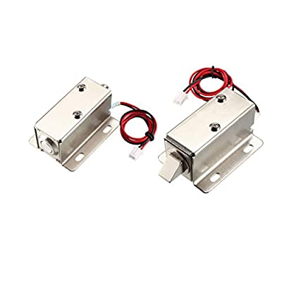 uxcell DC Electromagnetic Solenoid Lock Assembly for Electirc Lock Cabinet Door Lock