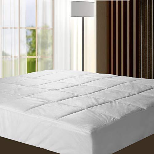 HYNAWIN Bedding Quilt Mattress Pad Cover Mattress Soft Cotton Top - Cooling White Mattress Topper