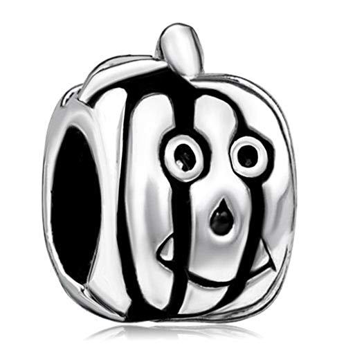 ShinyJewelry Halloween Pumpkin Face Jack-o-Lantern Charms Bead for Bracelets