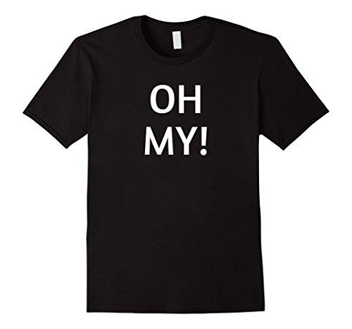 Jungle Man Costume Ideas (Mens Halloween Oh My Costume T-Shirt Apparel Large Black)