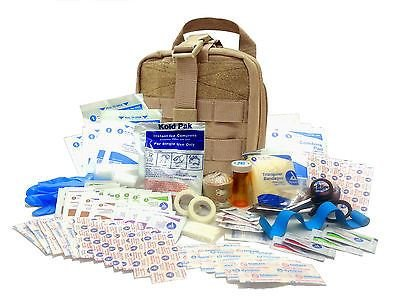 Tactical First Aid Kit: Military Rip-Away EMT First Aid Kit - IFAK Level 1 Army Medic - Tan - #FA16 by Surplus provisions LLC