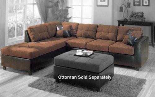 Coaster Furniture 505655Harlow Sectional Microfiber