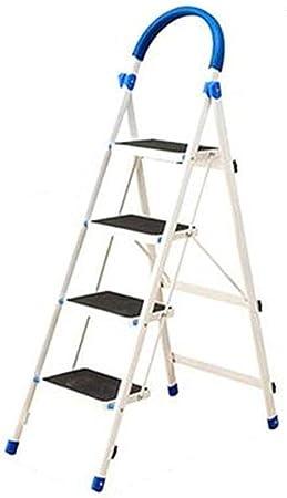 Casa Tres Paso metal Escalera, cuatro pasos de seguridad for escaleras pasamanos de escalera de tijera ultrafina Jardín/balcón Escalera/Doblado Grosor: 5,5 Cm Engrosado (Size : 51 * 84 * 140CM): Amazon.es: Bricolaje y herramientas