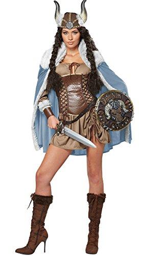 California Costumes Women's Viking Vixen Sexy Warrior Costume, Brown, Medium - http://coolthings.us