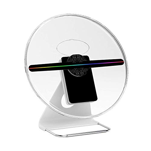 ICANZUO 3D Hologram Advertising Display Fan 512p HD Holographic LED Air Fan Projector for Business Store Shop Bar Casino Holiday etc (12 inch)