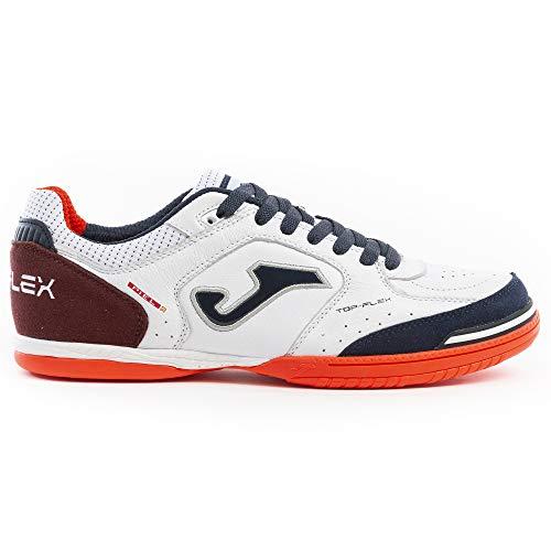 Joma Top Flex, Zapatilla de fútbol Sala, White-Navy, Talla 6.5 US (39 EU): Amazon.es: Zapatos y complementos
