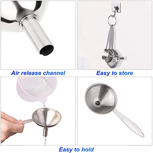 Stainless Steel Funnels For Kitchen With Handles-Set Of 6 by Awpeye (Image #4)