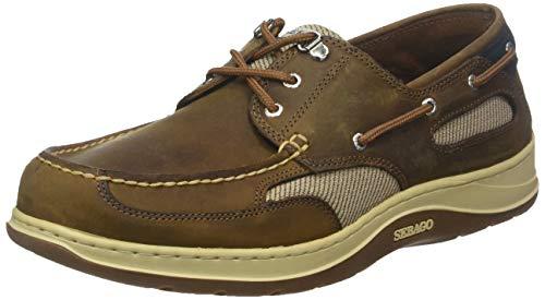 Sebago Mens Clovehitch 2 FGL Waxed Brown Cinnamon Boat Shoes Size 11