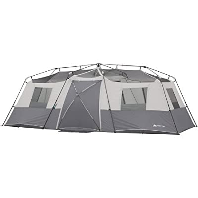 "20' x 10' x 80"" 12-Person Instant Cabin Family Tent 3-Room Layout with 2 Removable Room Dividers"