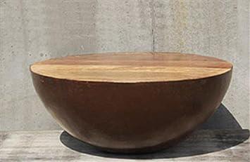 DESIGN Couchtisch BOWL Beistelltisch Sofatisch Holz Rund 70 X Cm Braun