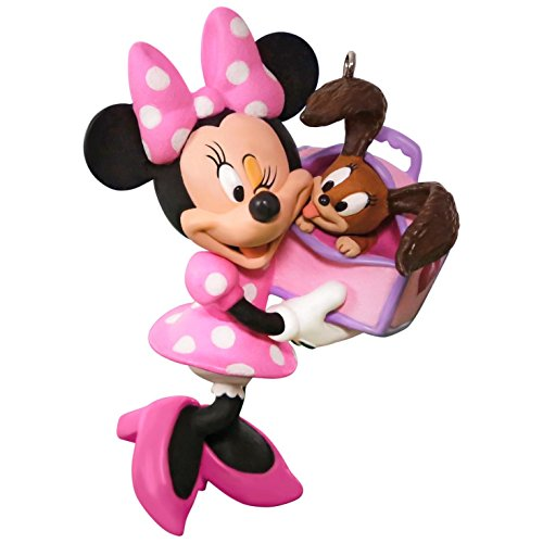 Best Christmas Ornaments - Hallmark Keepsake 2017 Disney Minnie Mouse Girl's Best Friend Christmas Ornament
