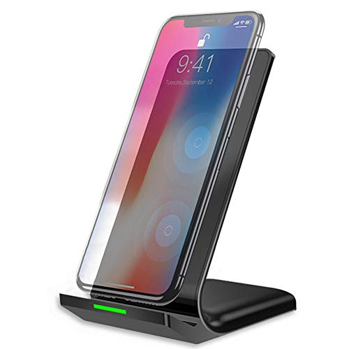 Wireless Charger, Qi Certified Taurusus Advanced Wireless Charging Stand Compatible iPhone XR/Xs Max/XS/X/8/8 Plus with Samsung Galaxy Note 9/S9/S9 Plus/Note 8/S8 and Other Qi-Enabled Devices