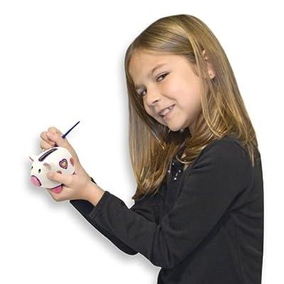 Melissa & Doug Decorate-Your-Own Piggy Bank: Melissa & Doug: Toys & Games