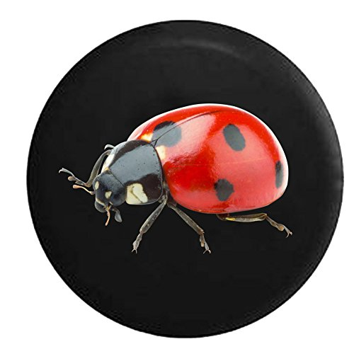 (Ladybird Ladybug Red and Black Spotted Bug Spare Jeep Wrangler Camper SUV Tire Cover 32 in)