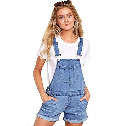 (Scioltoo Overall Shorts for Women Women Overalls Shorts Jumpsuits for Women Short Overalls A-Light Blue XXL)
