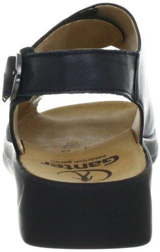 Ganter Monica, Weite G 3-202511-30300 - Sandalias de vestir de cuero nobuck para mujer Azul