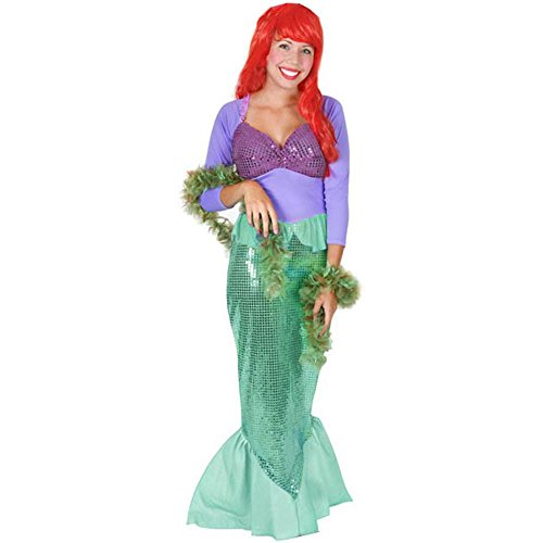Ladies Little Mermaid Halloween Costume (Size: Large 8-12) (Adult Little Mermaid Halloween Costume)