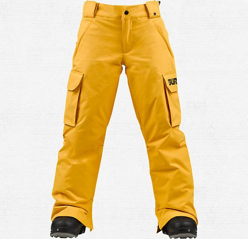 Burton Boys Exile Cargo Pants Size Medium Color Saffron by Burton