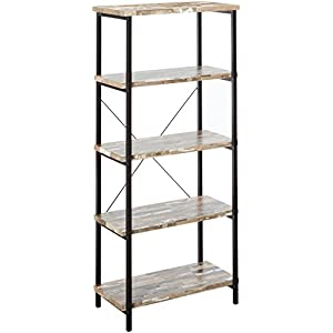 Coaster Home Furnishings CO- Bookcase, Salvaged Cabin and Black