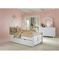 NE Kids Lake House Payton Twin Arch Bed with Trundle in White