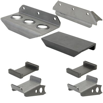 Sand Rail Or Dune Buggy Radiator Weld On Mount For Ron Davis Or PWR Or CBR With Rubber Pads