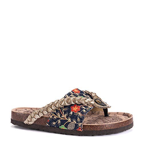 MUK-LUK Women's Elaine Sandals Denim 9