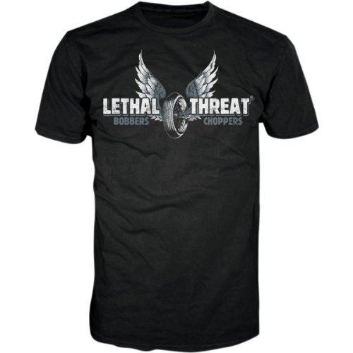 Lethal Threat (LT20196XXL) Men's LT Motorcycles Short Sleeve T-Shirt (Black, XX-Large)