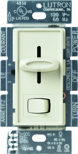 Lutron SCL-153P-AL Skylark CL 150-watt CFL/LED/Incandescent Dimmer, Almond