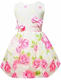 Little Girls Vintage Floral Print Swing Party Princess Dresses 2-7 Years