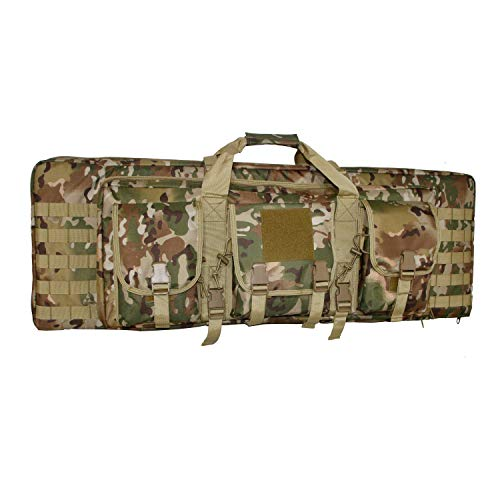 WolfWarriorX Double Long Rifle Gun Case Bag Tactical Carbine Cases Water Dust Resistant Firearm Shotgun Bag Outdoor MOLLE Hunting Shooting Storage Transport, Available in 38