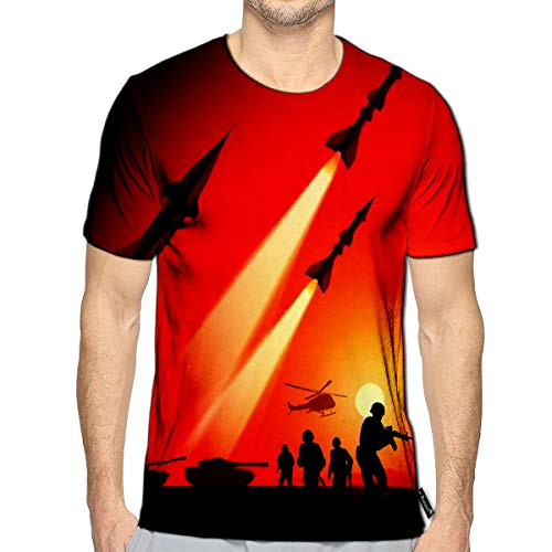 3D Printed T-Shirts Antiaircraft Missiles Rockets Aimed to The Sky Short Sleeve (Best Foods To Fight Wrinkles)