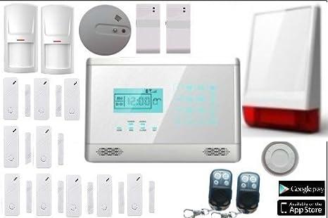 Antirrobo Alarma Casa Kit GSM inalámbrico sin hilos con ...
