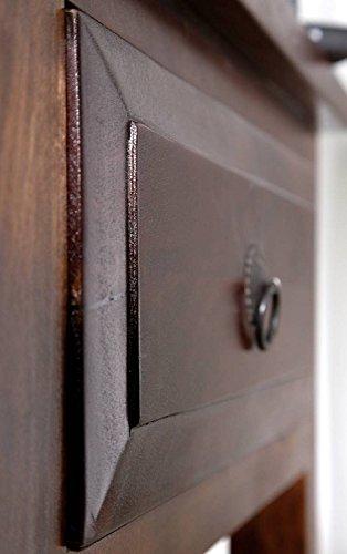 stile coloniale Tavolino Nougat massello acacia legno Oxford #907